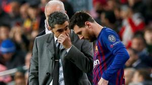 Valverde y Messi, en su etapa en el Barça