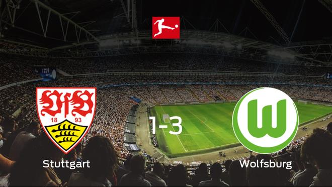 El VfL Wolfsburg doblega al Stuttgart por 1-3