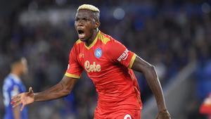 Nápoles y Leicester empatan a dos en el partido de la jornada