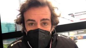 Alonso, durante el chat desde Imola