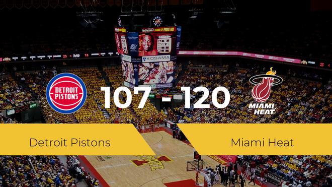 Victoria de Miami Heat ante Detroit Pistons por 107-120
