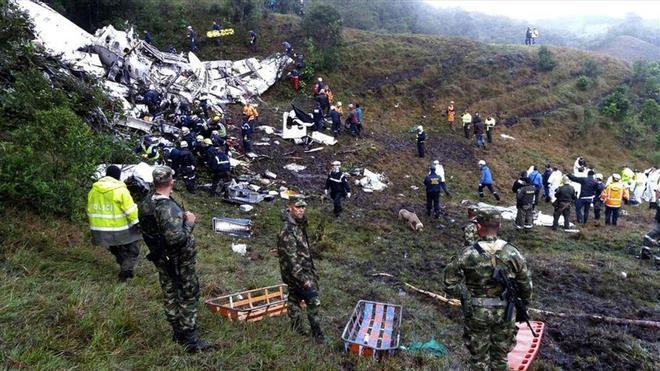 De los 77 ocupantes de la aeronave del Chapecoense solo sobrevivieron 6