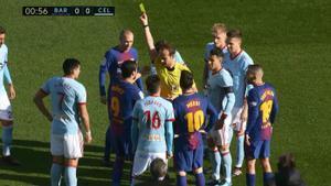 LALIGA   FC Barcelona - Celta (2-2): Lesión de Sergi Gómez y amarilla para Suárez