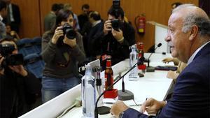 Del Bosque, en rueda de prensa