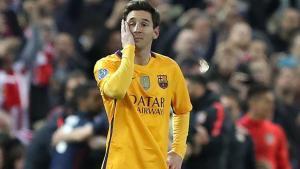Leo Messi, en una imagen durante el encuentro contra el Atlético