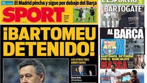 Las portadas del día de la prensa deportiva tras el Barçagate