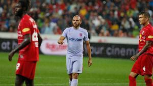 Braithwaite marcó el único gol del Barça ante el Salzburgo