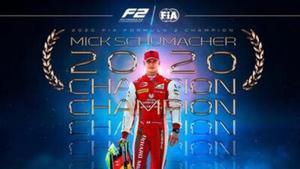 Mick Schumacher, flamante campeón de la F2