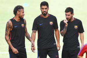 Neymar, Suárez y Messi se despidente tras tres años de MSN