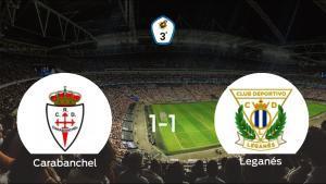 El Real Carabanchel y el Leganés B se reparten los puntos tras su empate a uno