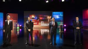 Los tres candidatos, en TV3