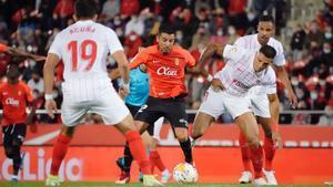 El resumen del partido entre el Mallorca y el Sevilla