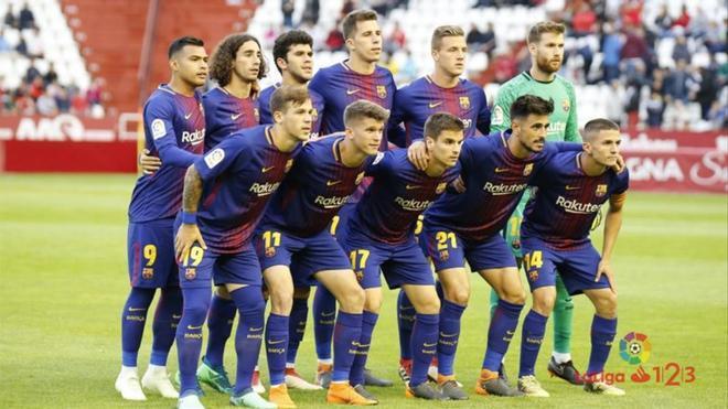 Con este once formó el filial en Albacete, su último partido a domicilio en Segunda A