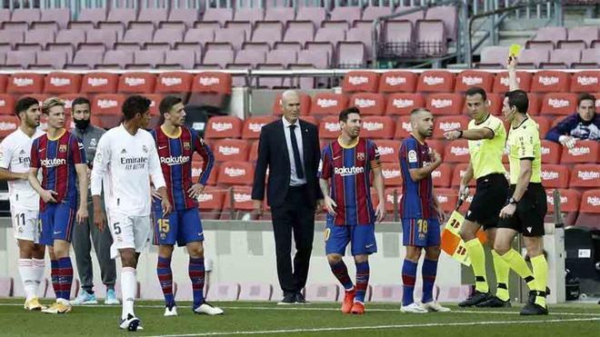 Imagen del último Clásico entre el Barça y el Madrid disputado en el Camp Nou