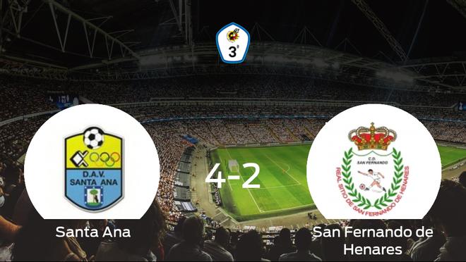 4-2: El Santa Ana se impone al San Fernando de Henares en casa