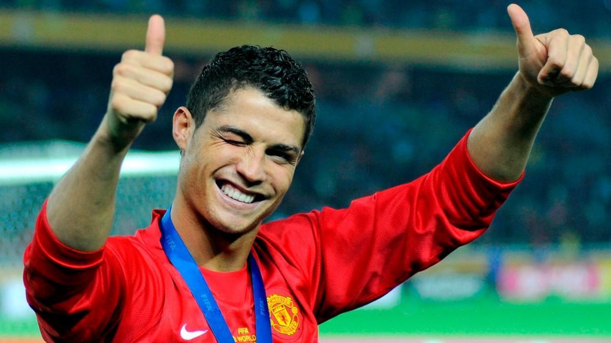 Cristiano Ronaldo, durante su primera etapa en el United
