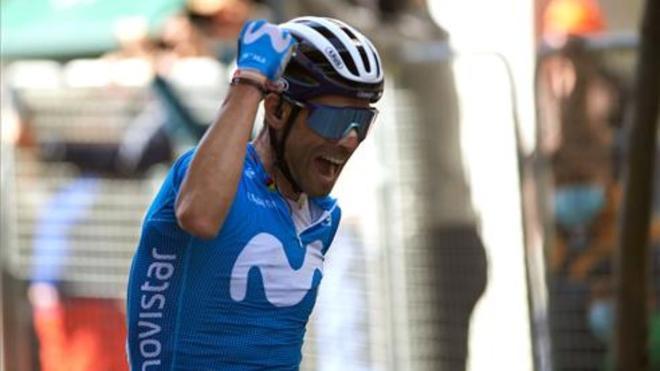 Alejandro Valverde, tras proclamarse campeón de la XXII edición del Gran Premio Miguel Induráin.