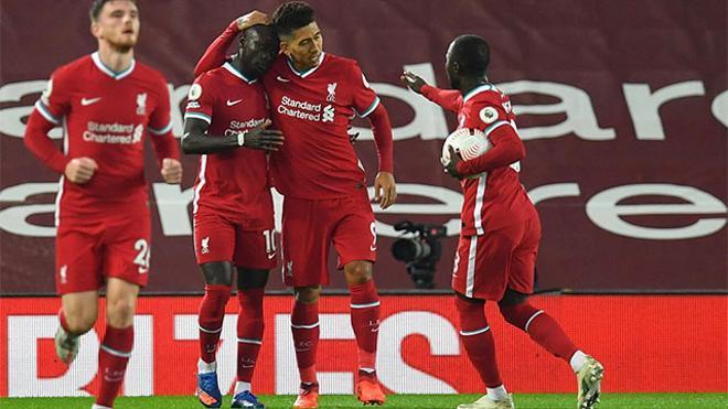 Robertson, tras anotar un gol para el Liverpool