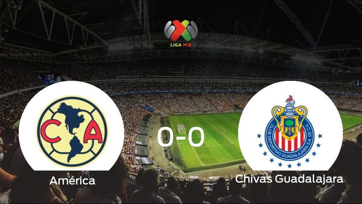 El América y el Chivas Guadalajara no encuentran el gol y se reparten los puntos (0-0)