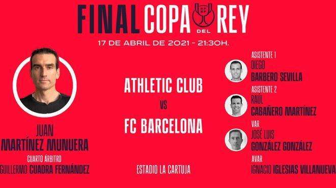 Martínez Munuera arbitrará la final de Copa 2020-2021