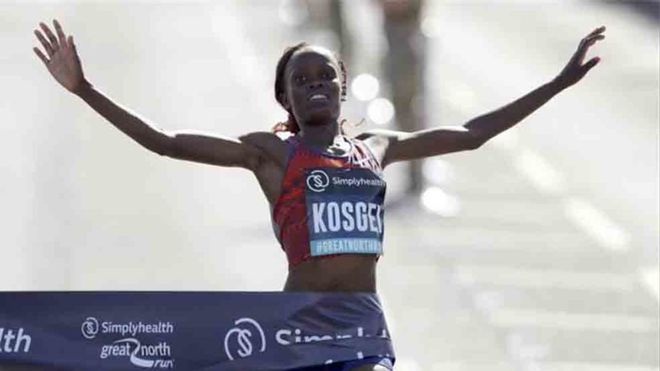Kosgei estableció un nuevo récord mundial de maratón