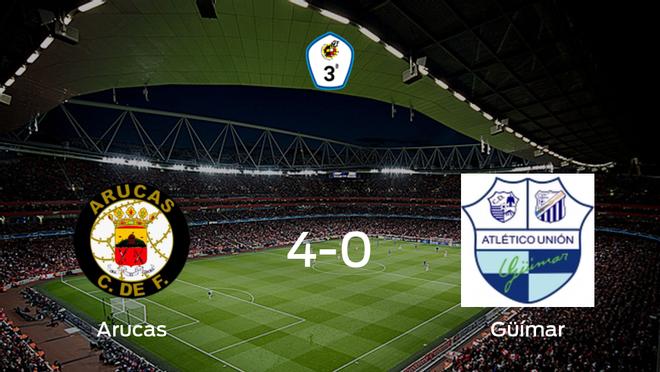 Tres puntos para el casillero del Arucas tras golear al Güímar (4-0)