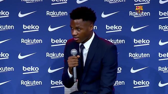Ansu Fati: Siempre mi sueño ha sido triunfar en el Barça