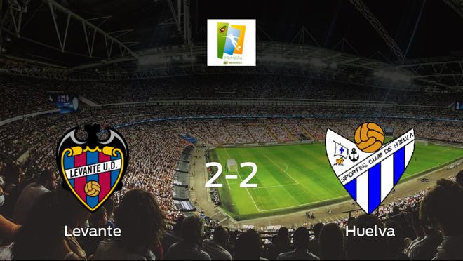 El Sporting de Huelva Femenino empata frente al Levante Femenino (2-2)