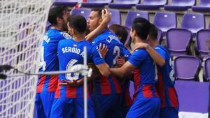 El Eibar se impone al Valladolid en el descuento