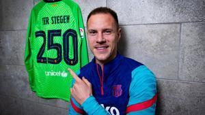 El mensaje de Ter Stegen a los culés por los 250 partidos con el Barça