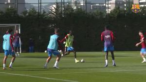 Dembélé afina la puntería para su regreso: ¡Qué golazo por toda la escuadra en el entreno!