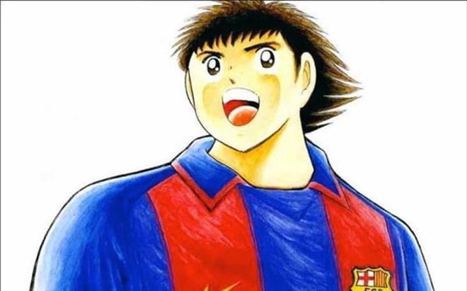 Oliver, con la camiseta del Barça