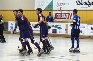 El Barça celebró hasta siete goles en la pista del Taradell