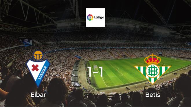 Its all even at Ipurua Municipal Stadium, after Eibar draw 1-1 with Betis