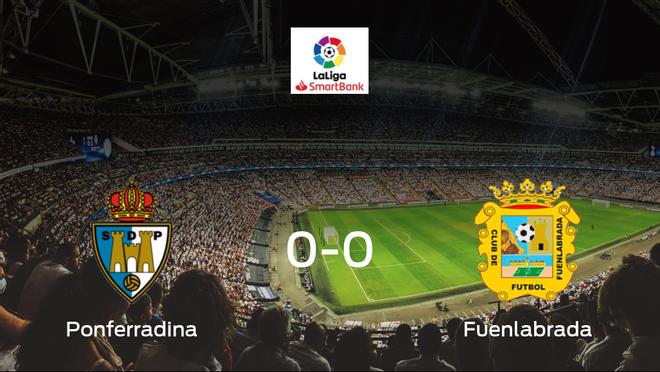 La SD Ponferradina y el CF Fuenlabrada no encuentran el gol y se reparten los puntos (0-0)
