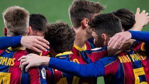 El golazo de falta de Jandro Orellana con el Barça B