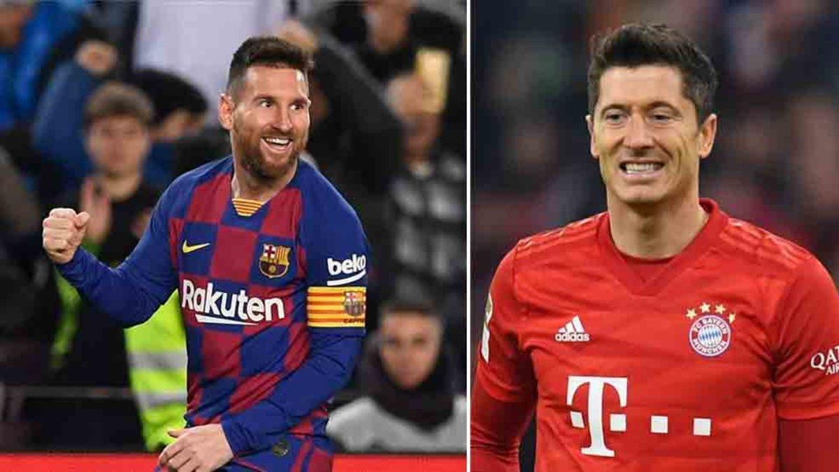 Messi y Lewandowski luchan por ser el máximo goleador de 2019