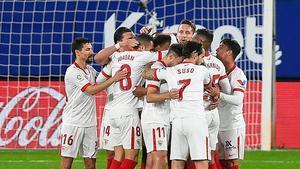 El Sevilla llega en forma al doble compromiso ante el Barça
