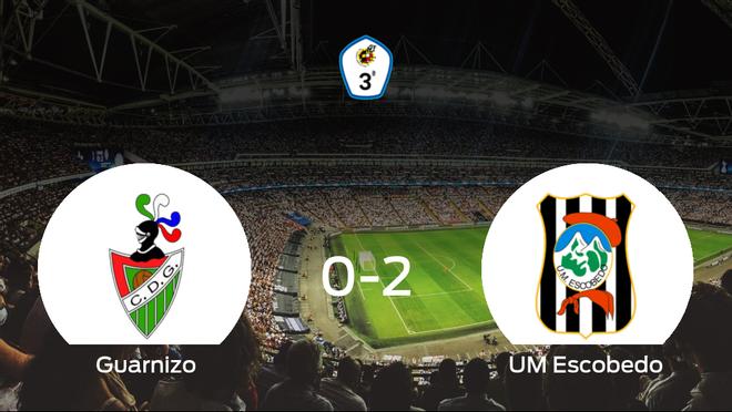 El UM Escobedo se queda con los tres puntos después de ganar 0-2 al Guarnizo
