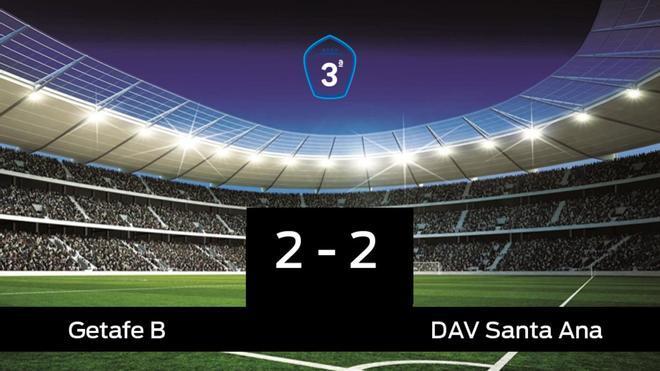 El Getafe B y el Santa Ana empatan (2-2)