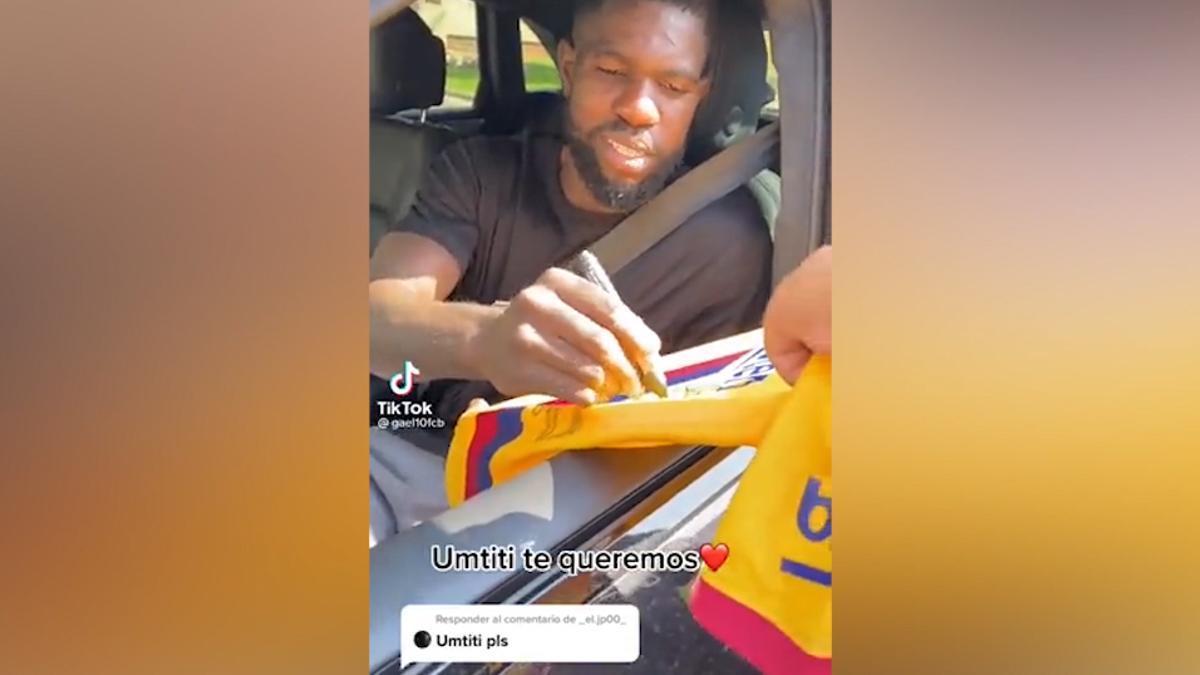 La respuesta de Umtiti a un aficionado sobre su situación en el Barça: Es la vida