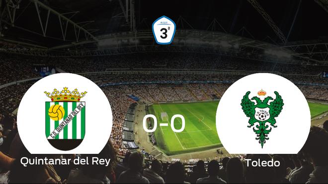 El Quintanar del Rey y el Toledo no encuentran el gol y se reparten los puntos (0-0)