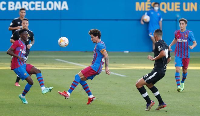 Collado anotó el segundo tanto del Barça ante el Nàstic