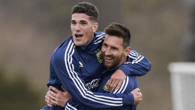 De Paul y Messi marcaron en el amistoso contra Newells