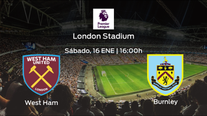 Jornada 19 de la Premier League: previa del duelo West Ham - Burnley