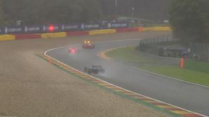 La lluvia ha arruinado la carrera de F1 en Bélgica