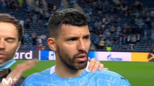 Emociona solo con verlo: Las lágrimas del Kun tras perder la Champions en su último partido con el City