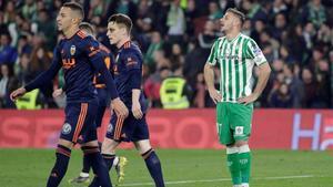 Betis y Valencia empataron a 2 en la ida de la Copa del Rey