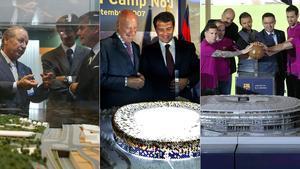 El Espai Barça y el entorno del Camp Nou han sufrido muchos intentos de modificaciones