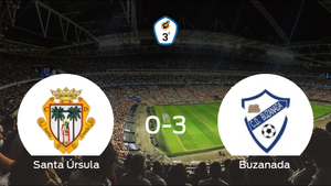 El Buzanada se lleva los tres puntos a casa tras golear al Santa Úrsula (0-3)